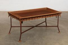 Las Palmas Collection Parcel Gilt Red Painted Tole Wrought Iron Coffee Table - 2057286