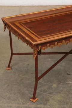 Las Palmas Collection Parcel Gilt Red Painted Tole Wrought Iron Coffee Table - 2057287