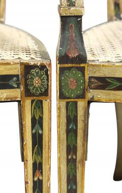 Late 18th C Twelve George III Painted Shield Back Dining Chairs Set of 12 - 1521670