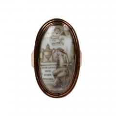 Late 18th Century Gold and Enamel Mourning Ring - 1045095