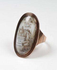 Late 18th Century Gold and Enamel Mourning Ring - 963752
