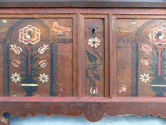 Late 18th Century Hand Painted Bavarian Dowry Chest Dated 1767 - 1122024