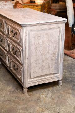Late 18th Century Louis XVI Grey Finish Three Drawer Commode with Raised Panels - 416641