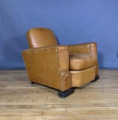 Late 1930s Cognac Leather Club Chair Continental - 1524921