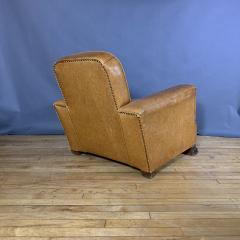 Late 1930s Cognac Leather Club Chair Continental - 1524923