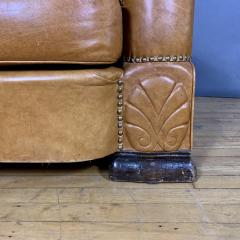 Late 1930s Cognac Leather Club Chair Continental - 1524924