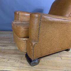 Late 1930s Cognac Leather Club Chair Continental - 1524925