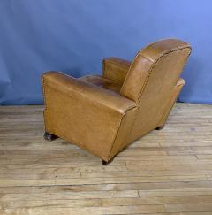 Late 1930s Cognac Leather Club Chair Continental - 1524927