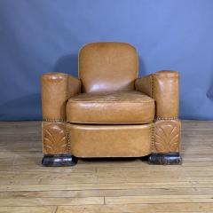 Late 1930s Cognac Leather Club Chair Continental - 1524928