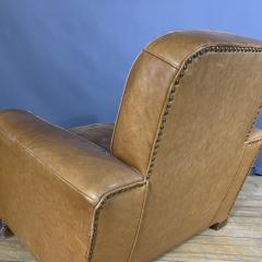 Late 1930s Cognac Leather Club Chair Continental - 1524929