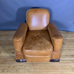 Late 1930s Cognac Leather Club Chair Continental - 1524930