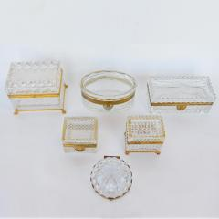 Late 19th Century Baccarat Glass Boxes  - 2136920