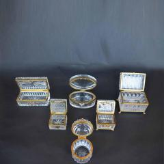 Late 19th Century Baccarat Glass Boxes  - 2136930