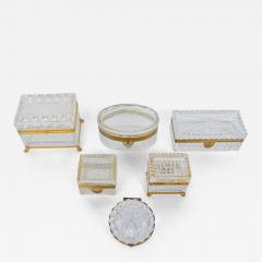 Late 19th Century Baccarat Glass Boxes  - 2139178
