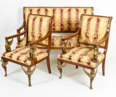 Late 19th Century Empire Style Three Gilt Bronze Mounted Salon Suite - 1170094