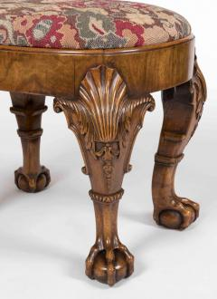 Late 19th Century English Walnut Stool in the Early Georgian Manner - 627737