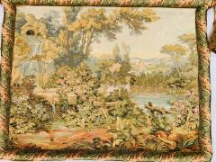 Late 19th Century French Handwoven Tapestry of Garden with Three Putti - 1725928