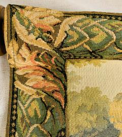 Late 19th Century French Handwoven Tapestry of Garden with Three Putti - 1725930