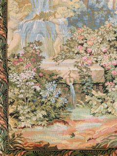 Late 19th Century French Handwoven Tapestry of Garden with Three Putti - 1725935