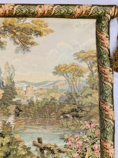 Late 19th Century French Handwoven Tapestry of Garden with Three Putti - 1725936