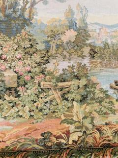 Late 19th Century French Handwoven Tapestry of Garden with Three Putti - 1725941