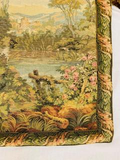 Late 19th Century French Handwoven Tapestry of Garden with Three Putti - 1725942