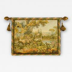 Late 19th Century French Handwoven Tapestry of Garden with Three Putti - 1727264