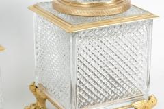 Late 19th Century Gilt Bronze Cut Glass Vases Centerpieces - 1170415