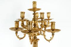 Late 19th Century Large Gilt Bronze Eleven Arms Candelabra - 1170974