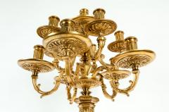 Late 19th Century Large Gilt Bronze Eleven Arms Candelabra - 1170977