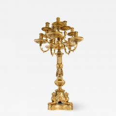 Late 19th Century Large Gilt Bronze Eleven Arms Candelabra - 1171754