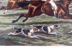 Late 19th Century Set Four Equestrian Engravings Forest Hunting Scenes - 1038285