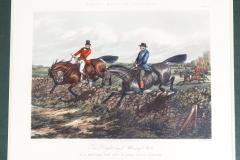 Late 19th Century Set Four Equestrian Engravings Forest Hunting Scenes - 1038287