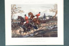 Late 19th Century Set Four Equestrian Engravings Forest Hunting Scenes - 1038309