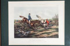 Late 19th Century Set Four Equestrian Engravings Forest Hunting Scenes - 1038313