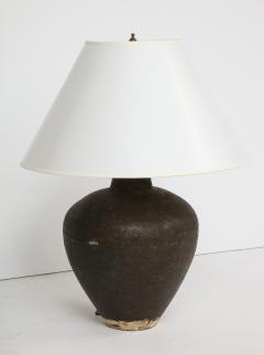 Late 19th Century Terracotta Wine Vessel Lamp - 1035873