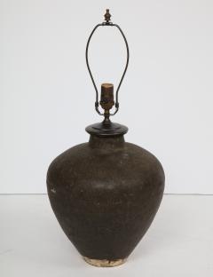 Late 19th Century Terracotta Wine Vessel Lamp - 1035875