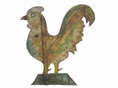 Late 19th Sheet Iron Rooster Weathervane - 103733