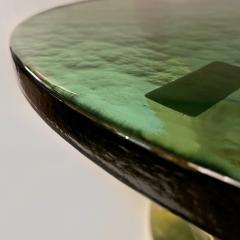Late 20th Century Brass Green Molten Murano Glass Coffee Table - 2009498