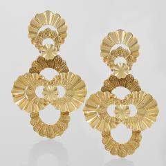 Late 20th Century Gold Earrings - 140636
