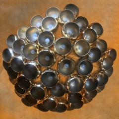 Late 20th Century Huge Italian Brass Open Globes Chandelier - 1631736