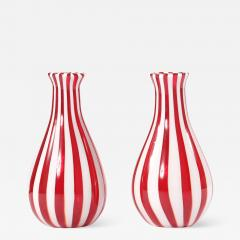 Late 20th Century Pair Murano Glass Vases Pieces - 1595023