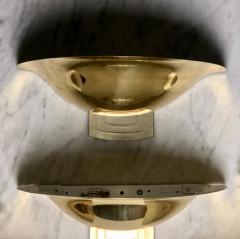 Late 20th Century Six Space Age Gold Metal Transparent Lucite Sconces - 1631610