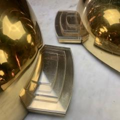 Late 20th Century Six Space Age Gold Metal Transparent Lucite Sconces - 1631613