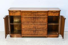 Late Art Deco Flame Mahogany Sideboard or Buffet France - 42552