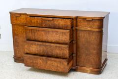 Late Art Deco Flame Mahogany Sideboard or Buffet France - 42553