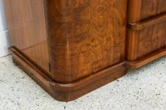 Late Art Deco Flame Mahogany Sideboard or Buffet France - 42556