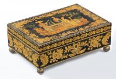 Late Regency Chinoiserie Penwork Box Circa 1830 - 117284