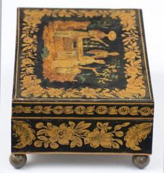 Late Regency Chinoiserie Penwork Box Circa 1830 - 117285