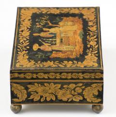 Late Regency Chinoiserie Penwork Box Circa 1830 - 117286